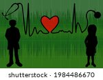 silhouette doctor and female... | Shutterstock .eps vector #1984486670