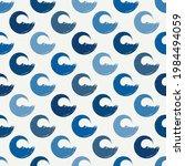 polka dot seamless pattern. sea ... | Shutterstock .eps vector #1984494059