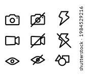 user interface vector line icon ...