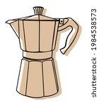 italian coffee maker or moka... | Shutterstock .eps vector #1984538573