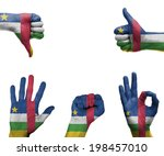 a set of hands with different... | Shutterstock . vector #198457010