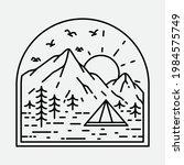 camping nature adventure wild...   Shutterstock .eps vector #1984575749