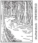 an old growth bottomland...   Shutterstock .eps vector #1984580510