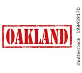 Grunge rubber stamp with text Oakland,vector illustration