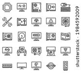 hardware icon set   vector...   Shutterstock .eps vector #1984592009