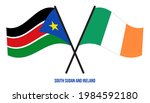 south sudan and ireland flags... | Shutterstock .eps vector #1984592180