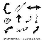 vector set of hand drawn arrows ...   Shutterstock .eps vector #1984615706