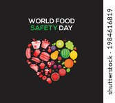 world food safety day. fruits...   Shutterstock .eps vector #1984616819