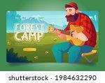 forest camp cartoon landing...   Shutterstock .eps vector #1984632290