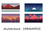 set of cartoon mountain... | Shutterstock .eps vector #1984644920