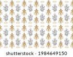 golden element on beige  brown... | Shutterstock . vector #1984649150