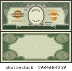 samples of the front and back... | Shutterstock .eps vector #1984684259