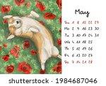 Calendar Page May 2022 Cute...