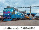 the train at the railway... | Shutterstock . vector #198469088