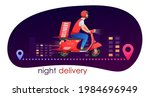 red night delivery retro... | Shutterstock .eps vector #1984696949