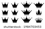 set of crown icons. royal crown ...   Shutterstock .eps vector #1984703453