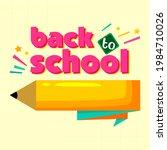 back to school simple flat... | Shutterstock .eps vector #1984710026