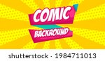 comic pop art cloud bubble.... | Shutterstock .eps vector #1984711013