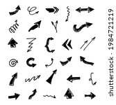 vector set of hand drawn arrows ...   Shutterstock .eps vector #1984721219