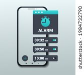 alarm clock app on smartphone...