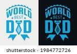 world best dad lettering ... | Shutterstock .eps vector #1984772726