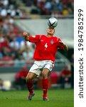 Small photo of LISBON, PORTUGAL - JUNE 21, 2004: Steven Gerrard of England in action during the UEFA Euro 2004 Croatia vs England at the Estadio da Luz.