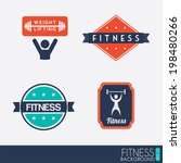 fitness design over white... | Shutterstock .eps vector #198480266
