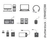 computer icon set | Shutterstock .eps vector #198485288