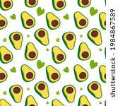 vector seamless pattern with... | Shutterstock .eps vector #1984867589
