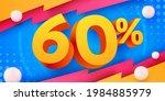 60 percent off. discount... | Shutterstock .eps vector #1984885979