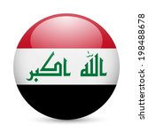 flag of iraq as round glossy... | Shutterstock .eps vector #198488678