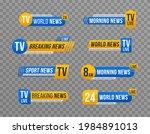 set of tv news bar . news... | Shutterstock .eps vector #1984891013