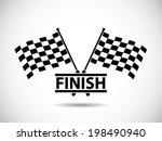 race flag finish | Shutterstock .eps vector #198490940