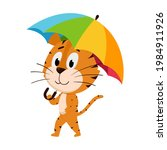 the tiger goes under the... | Shutterstock .eps vector #1984911926