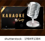 karaoke party poster   vector... | Shutterstock .eps vector #198491384