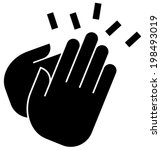 applause icon | Shutterstock .eps vector #198493019