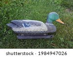 Duck Decoy In A Patch Of Grass
