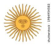 the inca sun god. sun of may.... | Shutterstock .eps vector #1984954583