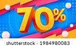 70 percent off. discount... | Shutterstock .eps vector #1984980083