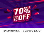 up to 70 off sale banner ... | Shutterstock .eps vector #1984991279