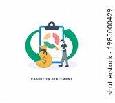 cash flow statement  cash flow...   Shutterstock .eps vector #1985000429