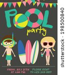 pool party   Shutterstock .eps vector #198500840