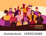 non binary people poster.... | Shutterstock .eps vector #1985010680