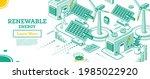 renewable green energy...   Shutterstock .eps vector #1985022920