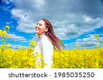 pretty young woman in the... | Shutterstock . vector #1985035250