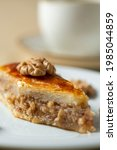 homemade baklava with nuts and...   Shutterstock . vector #1985044859
