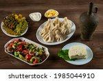 georgian dumplings khinkali ...   Shutterstock . vector #1985044910
