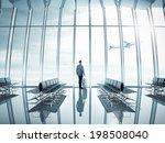 businessman at airport | Shutterstock . vector #198508040