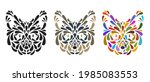 collection silhouettes of cat...   Shutterstock .eps vector #1985083553