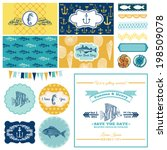 nautical sea theme set   for... | Shutterstock .eps vector #198509078